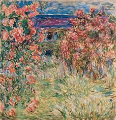 Claude Monet | Das Haus in den Rosen - House among the Roses | 1925 | Öl auf Leinwand | © Albertina, Wien - Sammlung Batliner #MonettoPicasso MonetbisPicasso #ModernArt