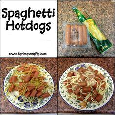 Karima's Crafts: Spaghetti Hot Dogs Recipe