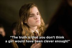 When Hermione tried to convince Ron and Harry that the Half-Blood Prince could easily have been a girl.