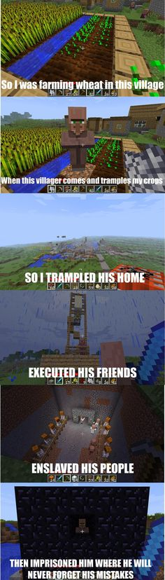 This is what happens when i get mad at a villager on minecraft (i like minecraft alot