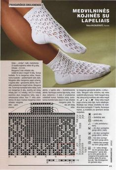 """Photo from album """"Rankdarbiai on Yandex. Lace Socks, Crochet Socks, Knitted Slippers, Knitted Hats, Knit Crochet, Knit Socks, Lace Knitting Patterns, Knitting Stitches, Knitting Socks"""