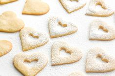 Raspberry and White Chocolate Shortbread Cookies: This Valentine's Day, surprise your boo with these cute and delicious raspberry and white chocolate heart-shaped shortbread cookies | aheadofthyme.com
