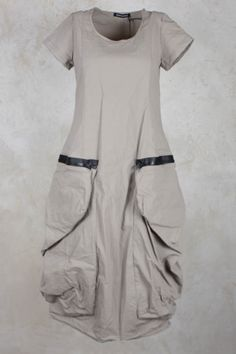 Dress with Double Statement Zip Pocket in Desert - Rundholz Mainline