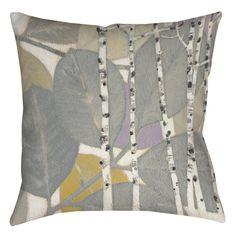 Birch Leaf 1 Printed Throw Pillow