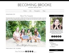 Modern Premade Blogger Template - Simple - Black and White - by BlogaholicDesigns, $30.00
