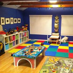 Cute play room! Jeez this looks like our current living room, we so need a play room!