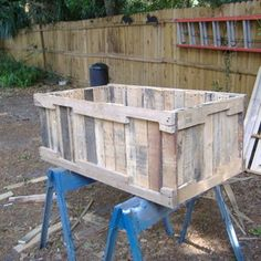 I want to make something like these planters from pallets.