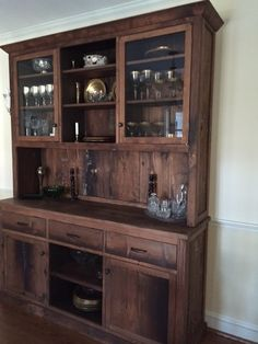 Custom, reclaimed wood hutch built by Concepts Created in Staunton, VA