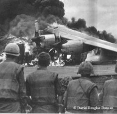 Khe Sanh - a C130 that got caught on the strip by incoming