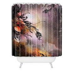 Herkimer Rain Extra Long Shower Curtain
