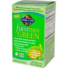 Garden of Life, FucoThin Green, 90 Veggie Caps  хорошо сжигает жир уменьшает аппетит