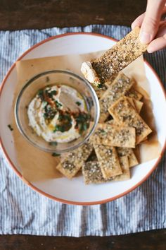 Za'atar Spiced Chickpea Crackers via dolly & oatmeal