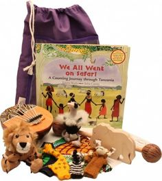 'We All Went on Safari' Sensory Tale is a lovely bag of toys that will be great for #story telling and some great #instruments