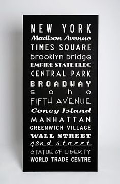 New York Screen printed canvas from $500AUD