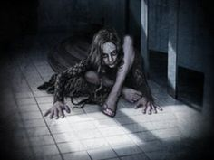 Teke-Teke (or Tek-Tek) is a scary Japanese urban legend about a girl who fell under a train and was cut in half. She took a long time to die and now her ghost Bizarre Stories, Scary Stories, Ghost Stories, Scary Legends, Legends And Myths, Scary Places, Haunted Places, Japanese Urban Legends, Japanese Mythology