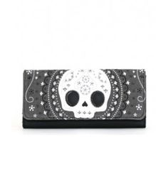 WHITE LACE SUGAR SKULL WALLET | hart Cool Gifts
