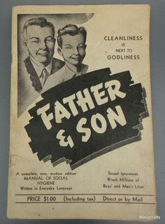 Father & Son #Manual of Social #Hygiene Sexual Health 1947 Soft Cover Canada Vintage