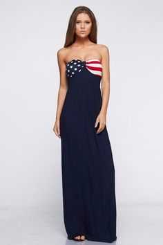 1cb094903b31f Zoozie LA Womens American Flag Dress USA National Star Stripes Patterns  Size Small Strapless Elegant American Flag Bust Stars and Stripes Print  Design in ...