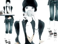 Sophie Griotto, gorgeous fashion illustration for the stylish contemporary urban woman - ego-alterego.com