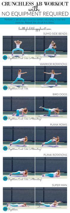 Crunchless Ab Workout | http://healthyhabitshappyheart.com