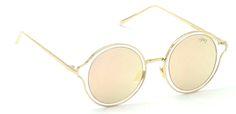 Buy Now I-Gog Sunglasses Unisex Golden Pink Mercury Large Retro Round IG-804-GL-PKM Online : US , Uk