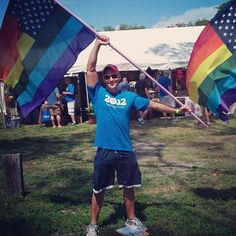 This volunteer at Pridefest in Ft. Lauderdale took a well-deserved break after canvassing. Are you ready to get involved? http://OFA.BO/FAcd8W