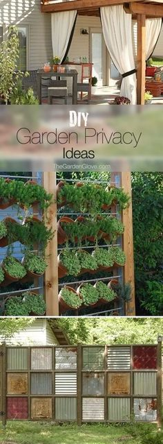 DIY Garden Privacy Ideasnnn