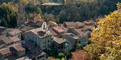 Rupit -  The village of Rupit is one point of great interest in Sau Collsacabra Valley. Rupit's 16th- and 17th-century rustic houses with their flower-filled balconies will definitely enchant you beyond belief #BCNmoltmes #osona #rupit #town #catalonia
