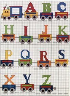 Alfabeto trenzinho, encontrado na net