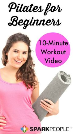 Great easy-to-follow Pilates video routine for everyone! And it's only 10 minutes.