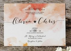 """Blushing Rouge"" from addorn invitations.co.uk"