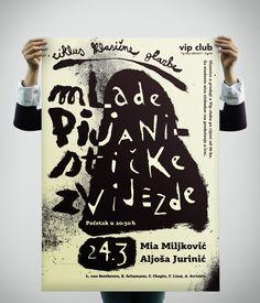Vip Club Plakati / 2 by Ivo Matić, via Behance