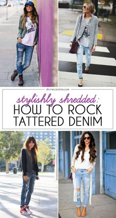 Don't be afraid to rock distressed denim! Check out this expert advice from our fashion blogger on how to take this look from messy to chic. #jeans #denim #style