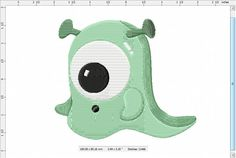 Cute Slime Baby Monster Machine Embroidery Design by LightsOutCreations on Etsy