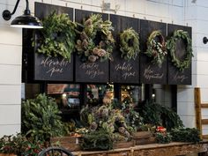 Joanna Gaines' Magnolia Market Holiday Installation Will Leave You Speechless. christmas decor joanna gaines Joanna Gaines' Magnolia Market Holiday Installation Will Leave You Speechless Christmas Tree Farm, Farmhouse Christmas Decor, Christmas Home, Christmas Wreaths, Christmas Decorations, Christmas Ideas, Christmas Greenery, Tree Decorations, Magnolia Homes