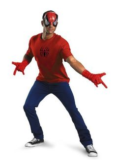 Disguise Mens Marvel SpiderMan Adult Kit RedBlack One Size ** Check this awesome product by going to the link at the image.