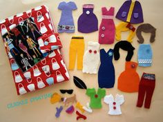 Felt Dress Up Doll Set/ Fabric Paper Doll/ by UlrikesSmaating, €35.00