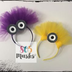 Despicable Me Minion Inspired headbands are perfect for: Minion Halloween, Diy Minion Kostüm, Minion Party, Halloween Crafts, Homemade Minion Costumes, Diy Costumes, Minion Dress Up, Purple Minion Costume, Dyi Couture