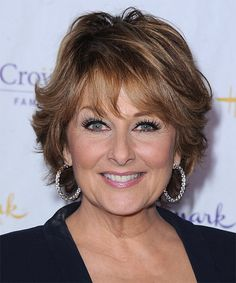 Short Hairstyles For Women Over 60 That Still Look Gorgeous Wavy With Bangs