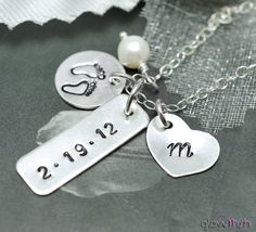 New baby personalized necklace - GlowWish - Name Necklaces