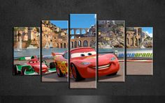 Cheap art linen, Buy Quality art bronze directly from China art cameo Suppliers:    Cars pixar painting canvas art group of 5 piece canvas art for baby living wall decor frame or frameless   Material:H