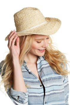 Textured Woven Cowboy Hat