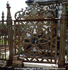 Ironwork Gate Lafayette Cemetary New Orleans   The Decorating Diva, LLC