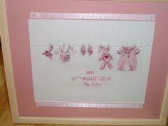 Baby Girl Washing line