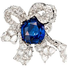Cindy Chao - White gold Ribbon ring with diamonds and a royal blue sapphire. Photo courtesy press office