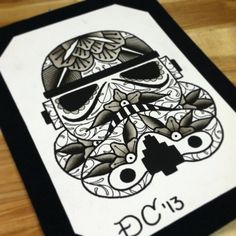 stormtrooper art http://drewcanadatattoo.tumblr.com/post/40110708926/here-is-a-day-of-the-dead-storm-trooper-i-painted