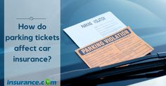 #Parking tickets don't affect your car #insurance rates. Parking tickets don't normally go on your driving record, so your #carinsurance company would be unaware of the offense.