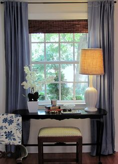 @Linda Irvin - Dyed Ikea curtains - looks pretty easy Mom!  - cottage and vine: DIY Dyed Curtains