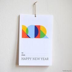 Geometric half-letter calendar...I've always liked the clean, modern feel of geometric shapes