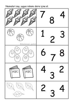 Conteo Counting Worksheets For Kindergarten, Free Kindergarten Worksheets, Math Literacy, Kindergarten Lessons, Preschool Math, Counting Activities, Math Sheets, Learning Numbers, Coding